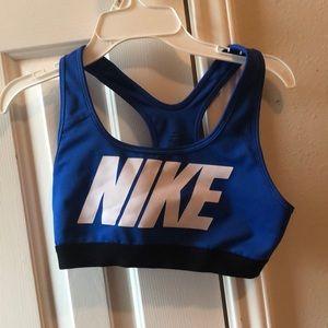NIKE blue sports bra dri-fit
